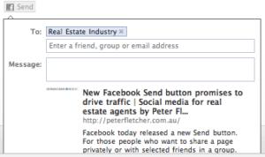 The Facebook Send button in action