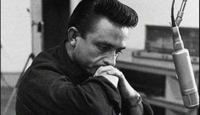 Johnny Cash looking pensive