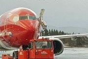 Flytrapp veltet og ødela dør på Norwegian