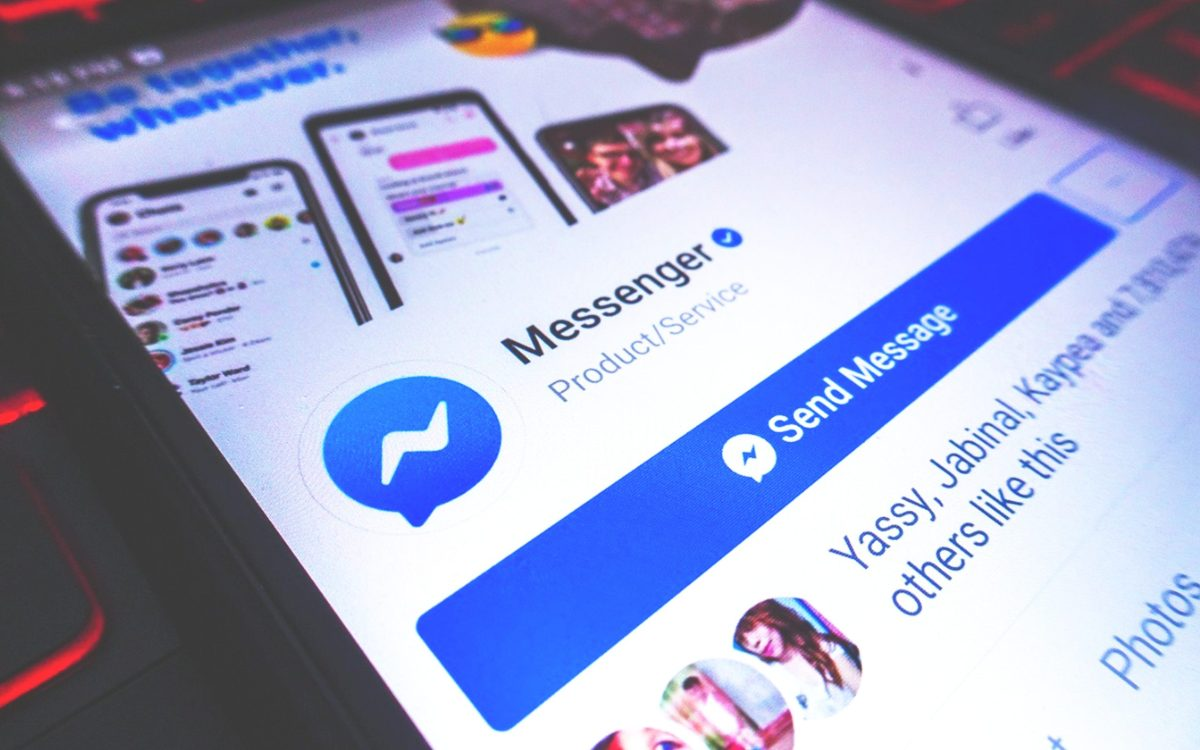 Screenshot of Facebook Messenger