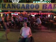 Peter outside Kangaroo Bar in Patong, Phuket, Thailand.