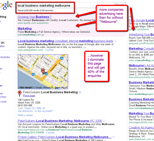 How to dominate a page with Local Marketing SEO