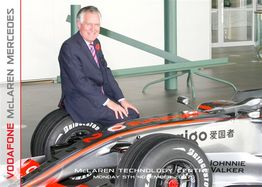 Peter with Lewis Hamilton's car