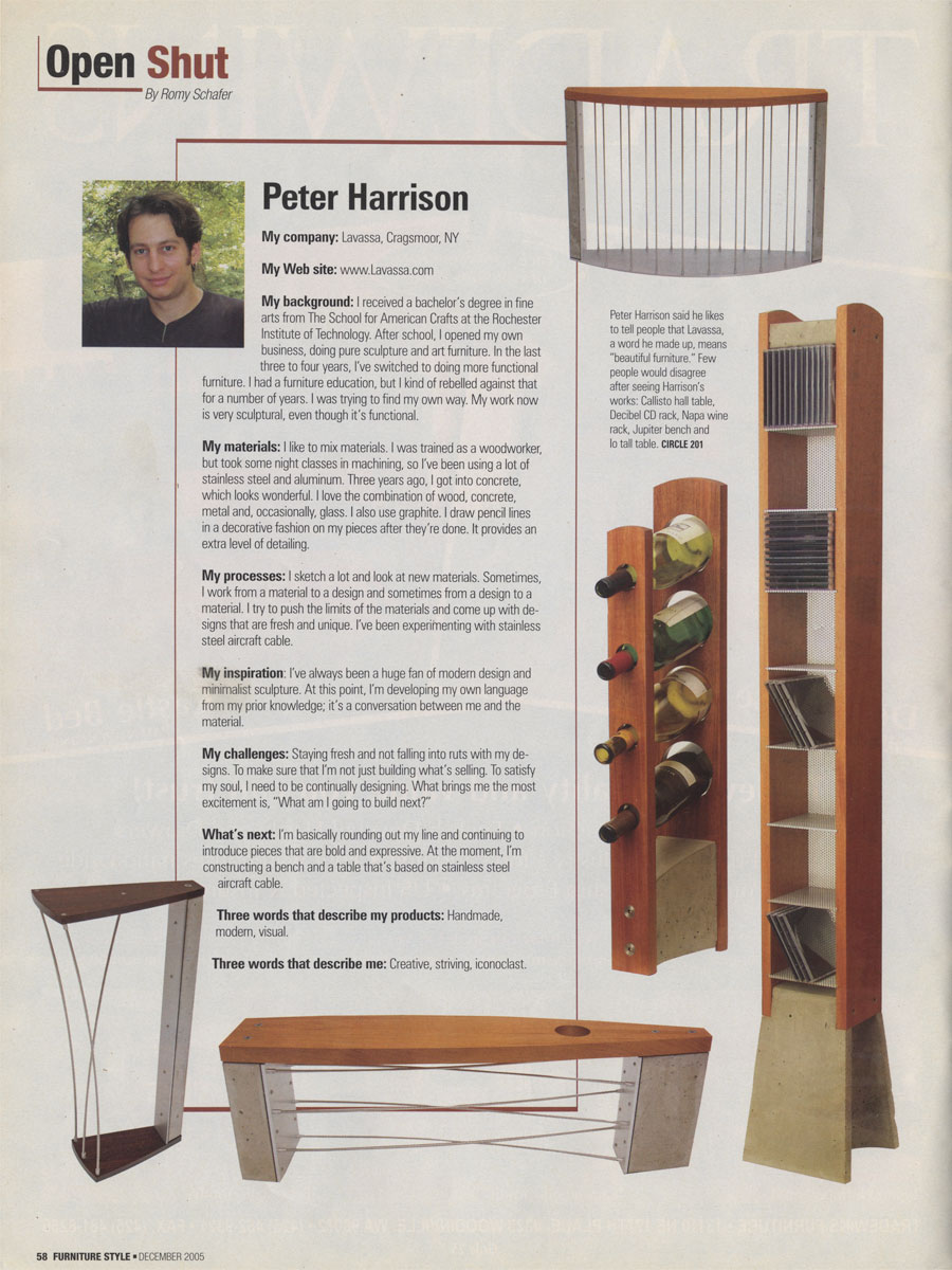 Furniture Style December 2005
