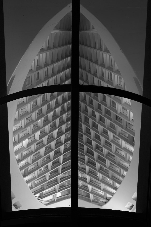 Shot into the Calatrava wing of the Milwaukee Art Museum