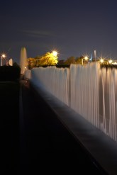 The fountains outside the Milwaukee Art Museum