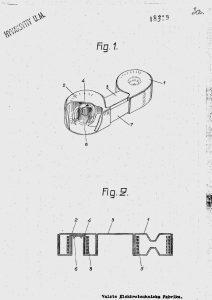 """Drawings from Finish patent № 18319, entitled """"Dagaljusförpackning för rullfilmer""""."""