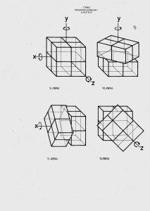 """Drawings from Hungarian patent № 170062, entitled """"Térbeli logikai játék"""" (3/4)."""