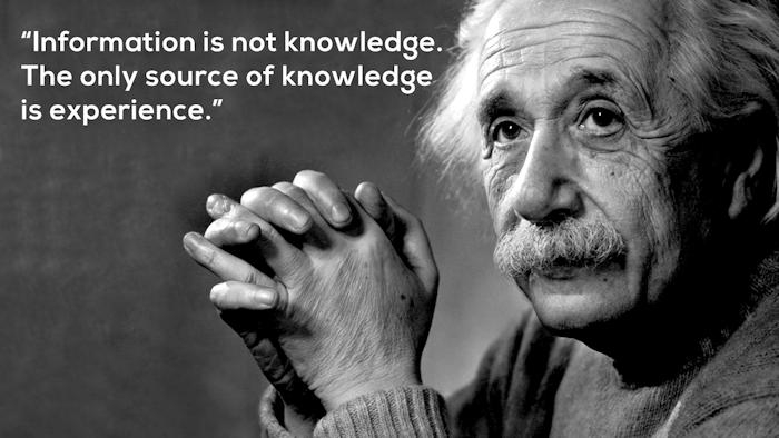 Einstein on Experience
