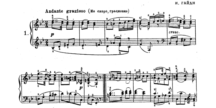 Haydn's Easy Pieces