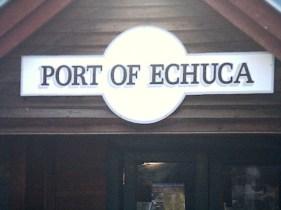 Echuca port sign