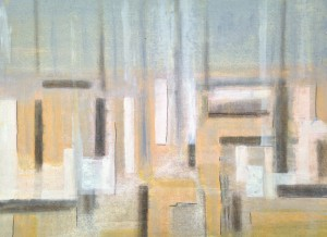 *47/14 'Dissolving coast' Oil on canvas board 61 x 48