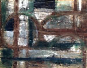'Sutton Hoo 3' oil on plywood