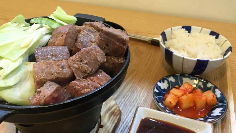 스테이크 혼밥