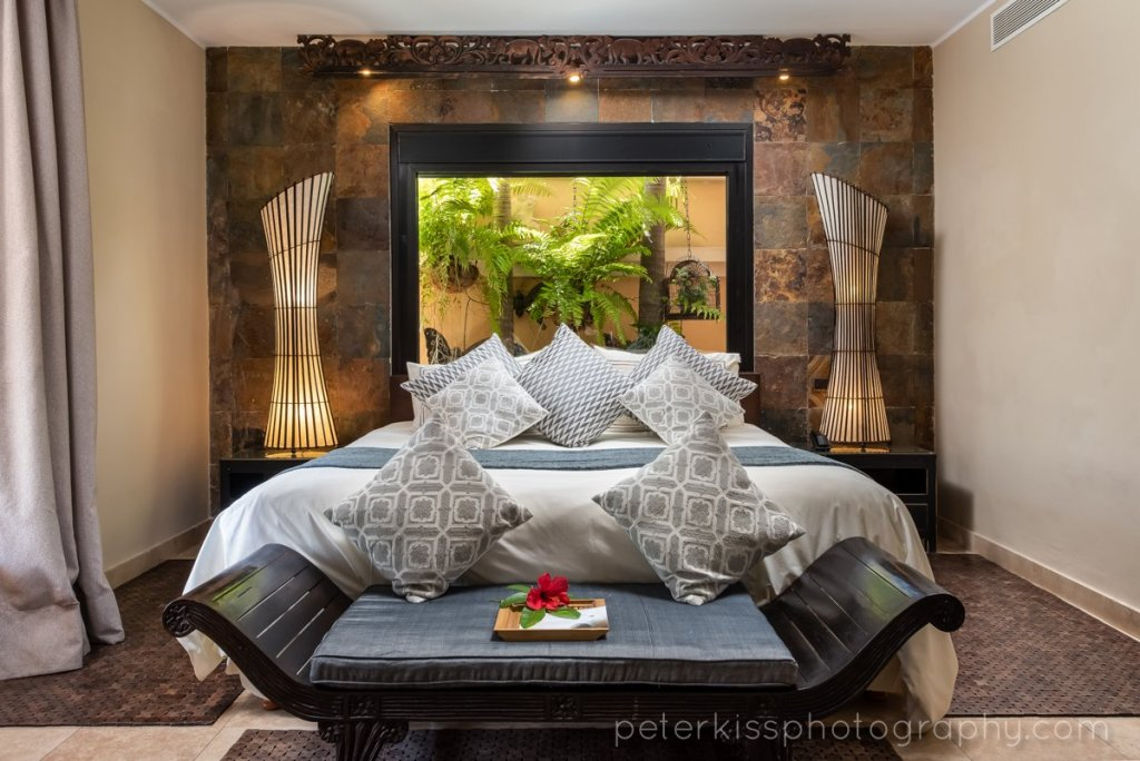 the photo shows a hotel room photographed by Peter Kiss, a hotel photographer working on Tenerife and the Canary Islands