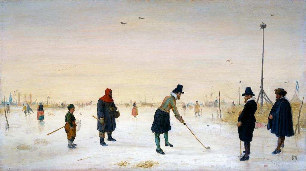 Hendrick Avercamp (1585 – 1634) and playing golf on ice
