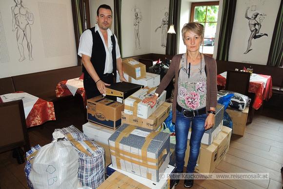 Griechenlandhilfe Salzburg und Niko der Grieche helfen Opfern der Flutkatastrophe in Serbien