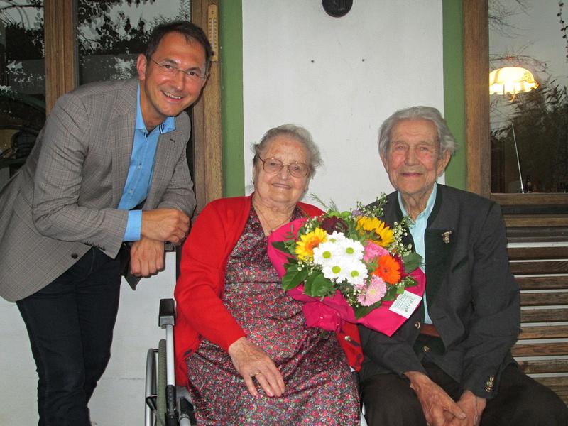 Maria und Anton Greischberger Bürgermeister DI Adi Rieger