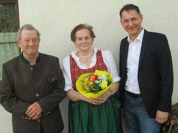 Rosa und Johann Windhager feierten ihre Diamantene Hochzeit