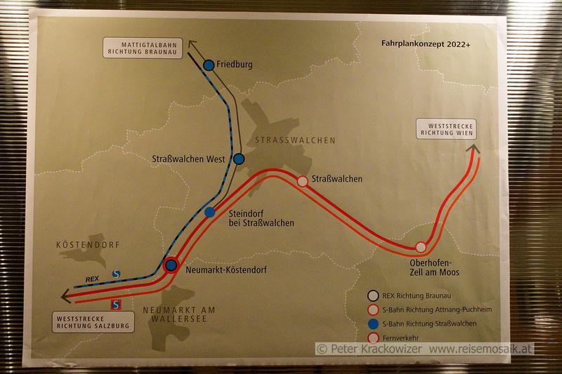 Übersicht der Bahn- und Zugverbindungen nach Fertigstellung des Umbaus.