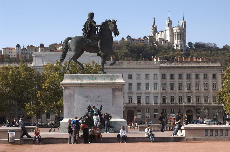 Lyon Frankreich Place Bellecour