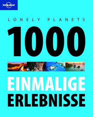 Lonely Planets 1000 einmalige Erlebnisse