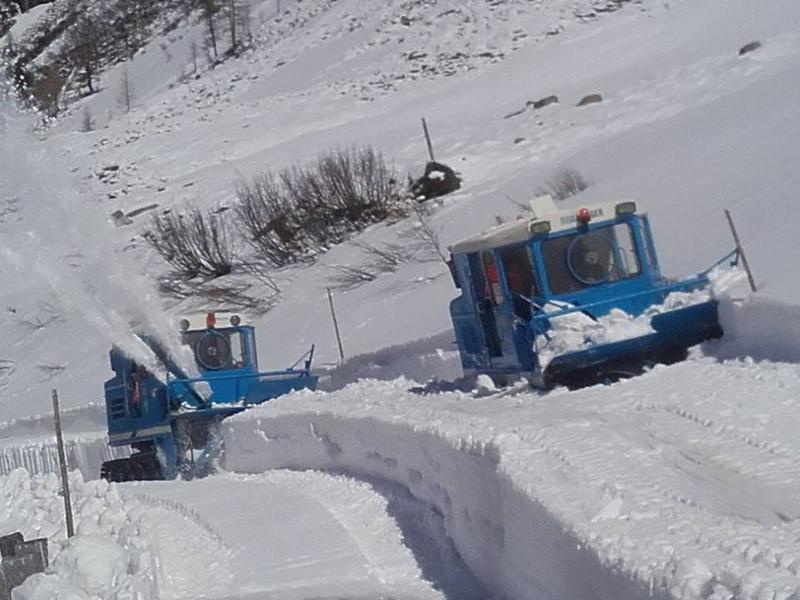 Großglockner Hochalpenstraße Schneeräumung 2016