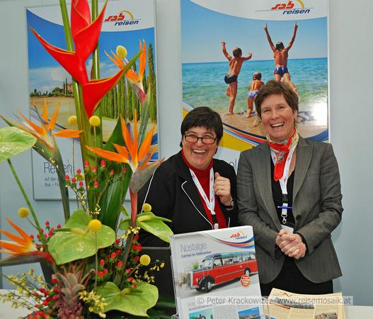 Daniela Faenza (links) (Teamleitung Busreisen) und Edith Fickl (groups, incentives & events) von Sabtours