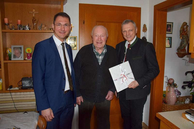 letzter Greisler von Neumarkt am Wallersee Ludwig Eichinger feierte 90. Geburtstag, März 2018,