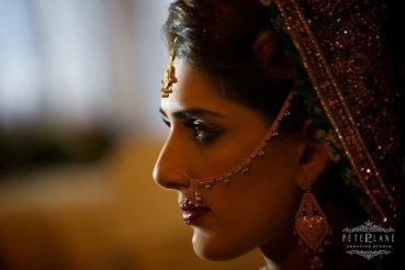 muslim wedding london bride portrait