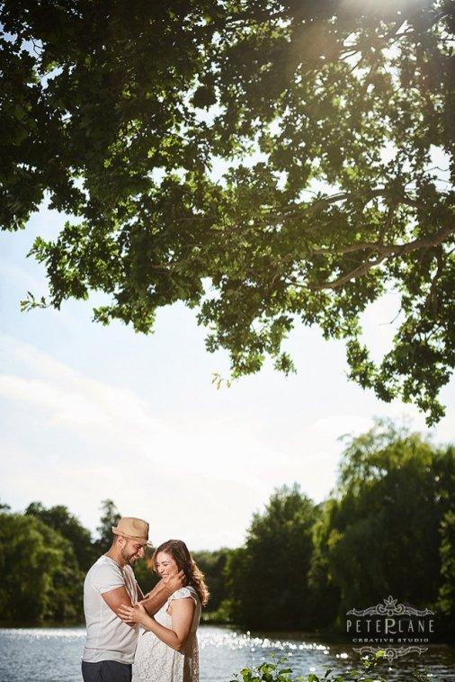 Wedding photographer barnet bride and groom afterglow