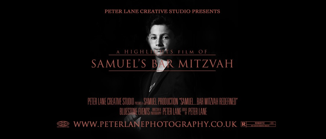 Bar Mitzvah photographer & videographer London. Samuel's bar mitzvah