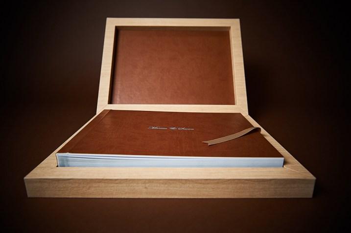 luxury wedding album in wood box