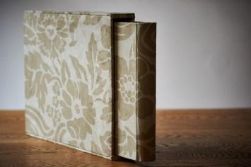 luxury wedding album in silver green