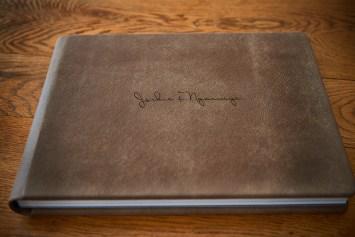 custom luxury wedding album cover engraving