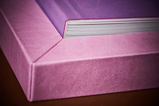 custom luxury wedding album in pink