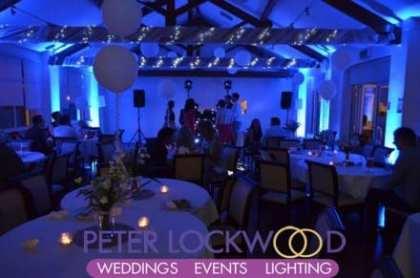 Blue Wedding lighting at the Bellavista Milnrow