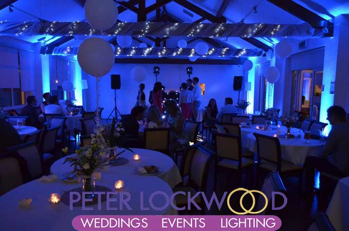 Bellavista with blue wedding uplighting