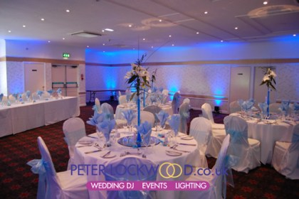 Broadfield Hotel Blue UpLighting hire