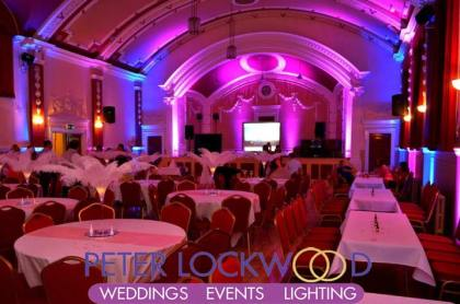 pink-and-blue-wedding-lighting-in-chadderton-town-hall