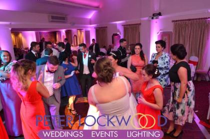 red hall wedding disco