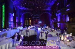 Manchester Town Hall Purple Uplighting