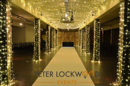 Fairy Light Wedding Aisle Hire