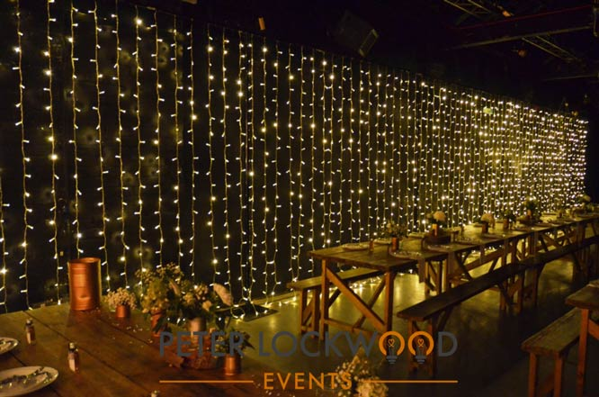 large fairy light backdrop