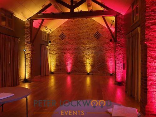Olympia barn uplighting