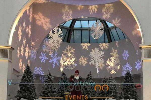 Christmas snowflake lights hire