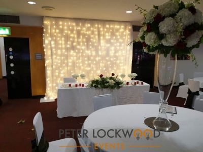 wedding fairy light small backdrop in manchester united