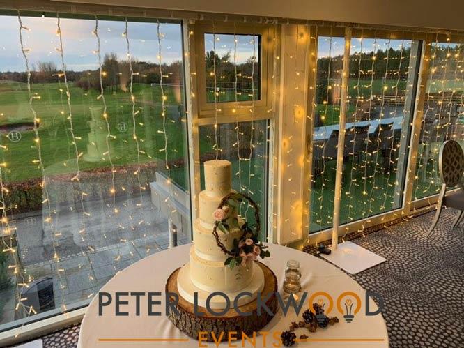 free standing fairy light windows in hurlston hall