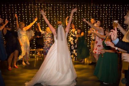 Happy bride in the hope mill theatre