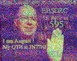 Slow-scan amateur television picture